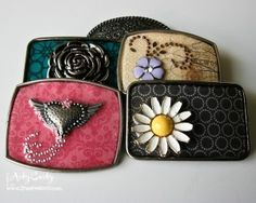 Resin Belt Buckles by Stephanie Lee