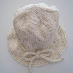 Baby Toddler Brim Hat Knitted Merino NZ