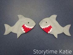 Flannel Friday: Sharks! finger puppets