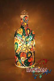 stained bubbly glass bottles (painted) ile ilgili görsel sonucu