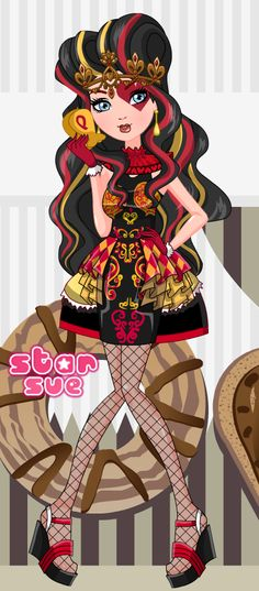Monday @ StarSue.Net : Ever After High Lizzie Hearts Hat-Tastic Tea Party dress up game! ;) [11 Aug 2014]