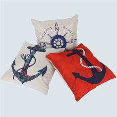 Anchor Helm Creative Home Decorative Throw Pillow Case Car Waist Cushion Cover