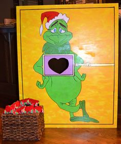 The Grinch Heart Bean Bag Toss