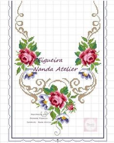 Cross Stitch Rose, Cross Stitch Flowers, Cross Stitch Geometric, Cross Stitch Patterns, Magnolia Flower, Crewel Embroidery, Needlepoint, Needlework, Diy And Crafts