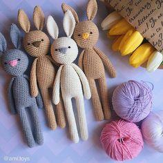 Mesmerizing Crochet an Amigurumi Rabbit Ideas. Lovely Crochet an Amigurumi Rabbit Ideas. Crochet Easter, Crochet Mignon, Crochet Bunny Pattern, Crochet Bear, Crochet Patterns Amigurumi, Cute Crochet, Amigurumi Doll, Crochet Dolls, Knitting Patterns