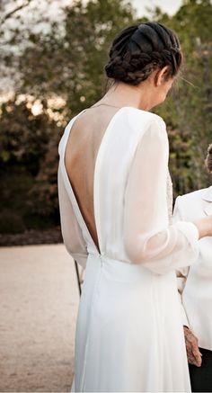 Vestido de novia de aire romántico