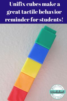 Behavior Blocks…a simple way to help students think about their own behavior.