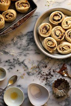 Pistachio Orange and Dark Chocolate Cinnamon Rolls / joy the baker