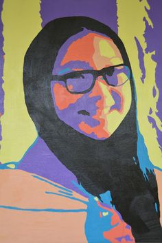 These neat Andy Warhol-inspired paintings were created by our Grade 10 Art class!
