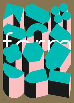 Form by Maddison Graphic and Unlimited. One of 40 new prints for FOUR PLAY Collaboration with Unlimited studio 50 x Limited edition of 100 Signed and numbered Litho print using gold and fluoro Heaven 42 stock Poster Prints, Art Prints, Graphic Posters, Litho Print, Event Branding, Shape And Form, Corporate Design, Graphic Design Inspiration, Pattern Design