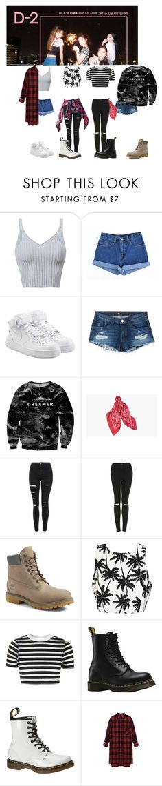 """""""Weekly Idol #3"""" by bbybjoo ❤ liked on Polyvore featuring Levi's, NIKE, 3x1, Mr. Gugu & Miss Go, Topshop, Timberland and Dr. Martens"""