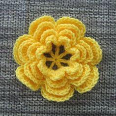 How to Crochet a Flower #5