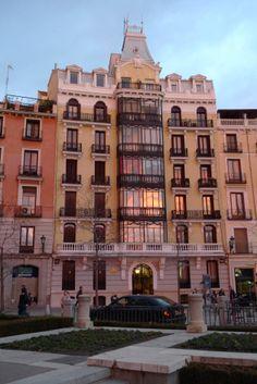 Atardecer en Madrid. La Plaza de Oriente España