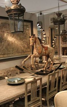 Lovvvve this!!! Antique rocking horse.