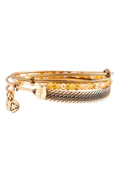 I love these stackable Alex and Ani bracelets.  I have several different styles in gold and silver!!!