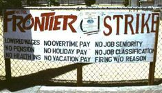 September 21, 1991:  550 workers at the Frontier Hotel and Casino in Las Vegas go on strike over wages and benefits.  The longest hotel strike in U.S. history lasted 6 years, 4 months, and 10 days and when it was over, the 9th Circuit Court of Appeals awarded the workers $3.5 million in back pay and pension credits.