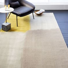 Watercolor Squares Rug - Frost Gray | west elm