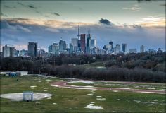 Toronto downtown seen from Broadview at Riverdale Park.
