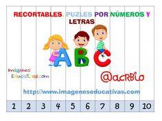Recortables para imprimir. Puzles por números y letras (1)