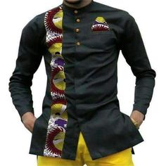 African Dress shirts – African Clothing in Houston - Gifted. African Shirts Designs, African Shirts For Men, African Attire For Men, African Prom Dresses, African Clothing For Men, Latest African Fashion Dresses, African Men Fashion, African Wear, Mens Floral Dress Shirts