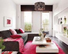 Sofá en L: buena solución para una sala de estar pequeña