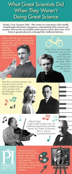 What did great minds like Marie Curie and Albert Einstein do when they weren't making groundbreaking scientific discoveries like the new rad...