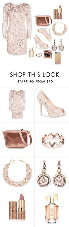 """""""just a lil sumthn"""" by official-bria-j ❤ liked on Polyvore featuring Boohoo, Lauren Lorraine, Alexander Wang, DIANA BROUSSARD, Selim Mouzannar, tarte, HUGO and Casetify"""