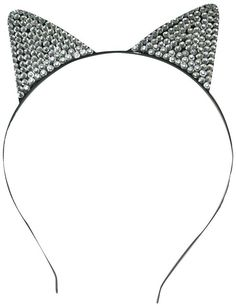 Adult Rhinestone Cat Ears Costume Headband
