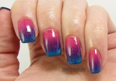Pink Gradient Nails mit Ultimate Pink (ESSENCE, Colour & Go Nail Polish)