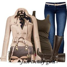 pink coat with jeans , Casual brownish outfits for winter  http://www.justtrendygirls.com/casual-brownish-outfits-for-winter/