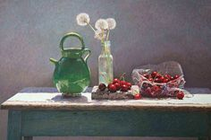 """""""Pitcher"""" by Colin Fraser 32x19 egg tempera on panel"""