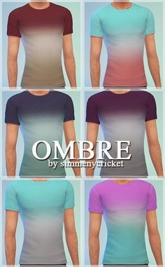 My Sims 4 Blog: Ombre T-Shirts for Males by Simmenycricket