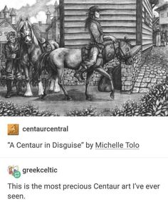 """Picture memes — iFunny-""""A Centaur in Disguise"""" by Michelle Tolo . - Picture memes — iFunny-""""A Centaur in Disguise"""" by Michelle Tolo % greekceltic This - Funny Cute, The Funny, Hilarious, Funny Memes, Funny Tweets, Retro Humor, Tumblr Posts, Mythical Creatures, Fantasy Creatures"""