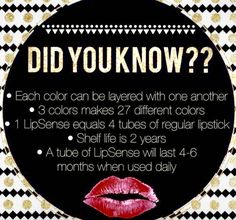 Did You Know?? Email me for any questions or to see what colors I have in stock @: markoangelina@yahoo.com
