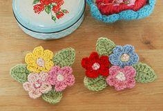 Blossom brooch  - crochet inspiration by Nicki Trench