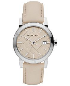 Burberry Watch, Women's Swiss Smooth Trench Leather Strap 34mm BU9107 - All Watches - Jewelry & Watches - Macy's