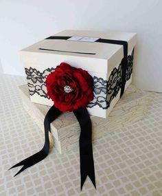 #blackwhitewedding  Wedding card box  Etsy.com