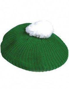 St Patricks Day Green White Retro Irish Golf Tam Hat  4700f3d6fab6