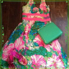 Nanette Lepore Halter Dress Nanette Lepore silk with pink and green floral print dress; lined; worn 1x; no stains or tears; perfect for a spring/summer event; pink shoes for sale in a separate listing; bundle for a discount! Nanette Lepore Dresses Midi