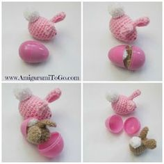 crochet bunny egg: cute, quick, and easy. I could make a couple of these before Easter.