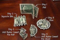 money lei graduation making How to origami money to make a Hawaiian money lei Video Diy Graduation Gifts, Graduation Leis, Money Lay For Graduation, Graduation Necklace, Graduation Parties, Graduation Decorations, Dollar Bill Origami, Money Origami, Diy Money Lei