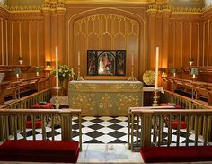 The interior of the Chapel Royal at St James's Palace in London, seen Oct. 17, 2013. Young Prince George will be christened there Oct. 23, 2...