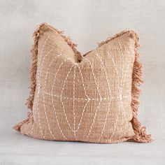 SAYO - Textured Natural Raw Cotton Pillow Cover - 20 in X 20 in