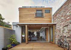 Rear extension and modern makeover of heritage house in Northcote