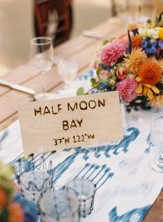 Tables named after places the couple has traveled together.   Photography: Cooper Carras - coopercarras.com