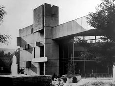 "germanpostwarmodern: "" Community Center St Albert (1970-72) in Würzburg, Germany, by Hans & Jürgen Schädel """