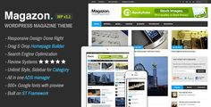 Theme Description:Magazon Pre Theme    Magazon is a Advanced – Responsive WordPress News or Magazine theme. It is ready to start working, out of the box, with a multitude of theme options, smart homepage builder ,custom widgets, categories styler to help you personalize your environment.