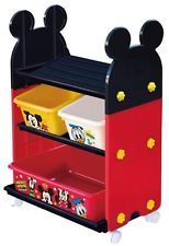 Disney Mickey Mouse Toy Station Toy Storage Rack From JAPAN