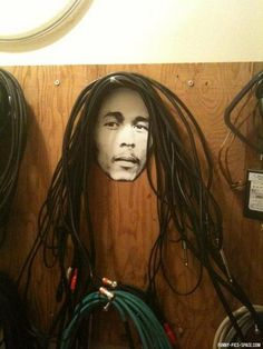 Bob Marley's Audio Cable dreadlocks One Luv +dreadstop / @DreadStop #dreadlocks