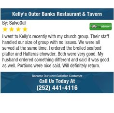 I went to Kelly's recently with my church group. Their staff handled our size of group...